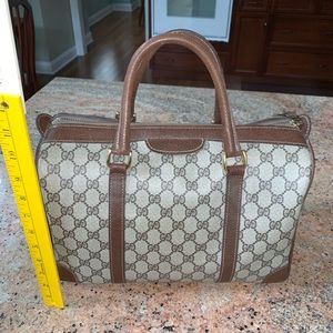 authentic vintage gucci barrel bag